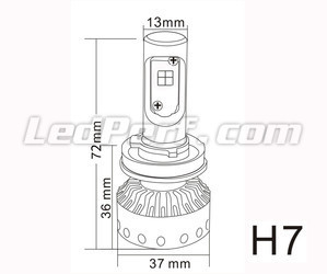 Mini bombilla led H7 Tuning