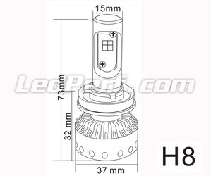 Mini bombilla led H8 Tuning