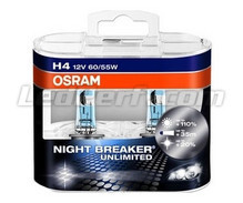 Pack de 2 bombillas H4 Osram Night Breaker Unlimited