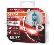 Pack de 2 bombillas HB3 Osram Night Breaker Laser +150% - 9005NL-HCB