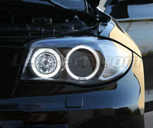 Pack angel eyes de LEDs (blanco puro) para BMW Serie 1 fase 2 - MTEC V3.0
