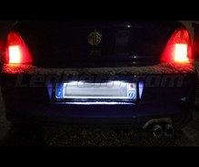 Pack iluminación LED de placa de matrícula (blanco xenón) para MG ZR