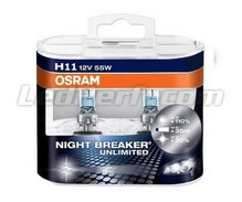 Pack de 2 bombillas H11 Osram Night Breaker Unlimited