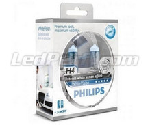 Pack de 2 bombillas H4 Philips WhiteVision + 2 W5W WhiteVision (Nuevas)