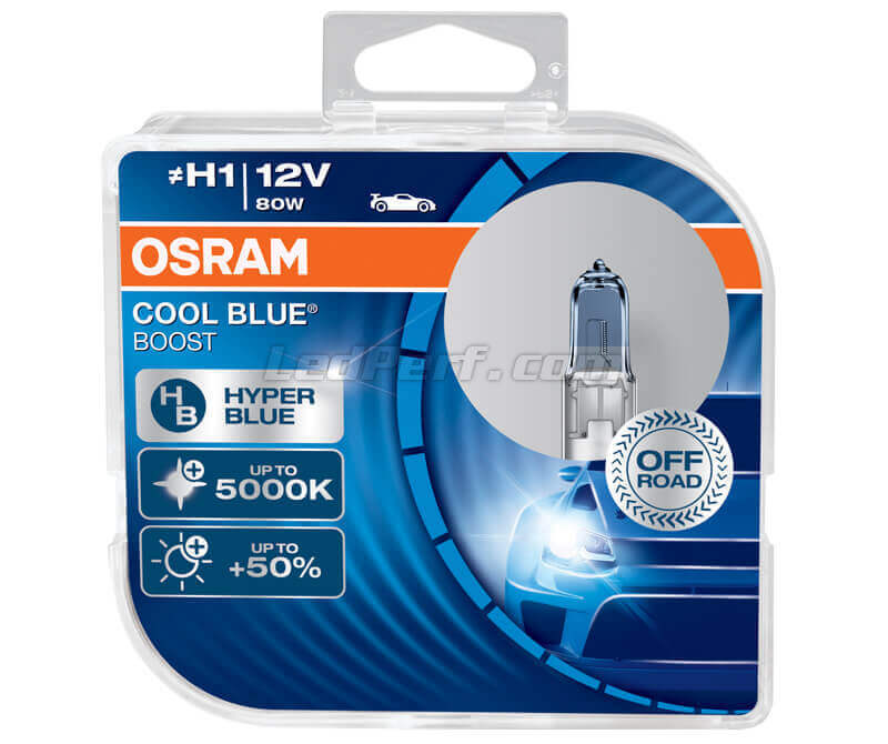 Pack de 2 bombillas H1 Osram Cool Blue Boost - 5000K - 62150CBB-HCB
