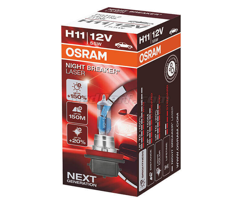 Bombilla H11 Osram Night Breaker Laser +150% - 64150NL