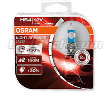 Pack de 2 bombillas HB4 Osram Night Breaker Laser +150% - 9006NL-HCB