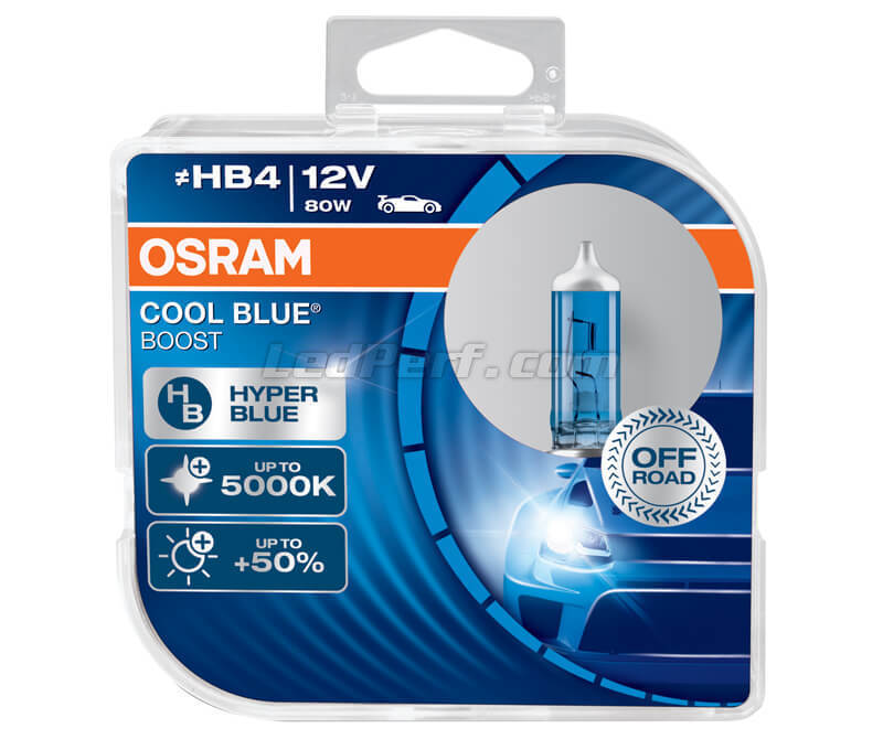 Pack de 2 bombillas HB4 Osram Cool Blue Boost - 5000K - 69006CBB-HCB