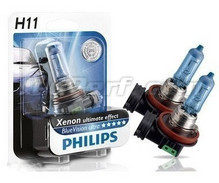 Pack de 2 bombillas H11 White Vision Philips