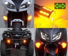 Pack de intermitentes delanteros de LED para Harley-Davidson Road King 1745